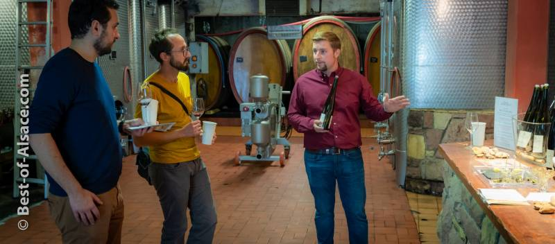This Alsatian young winemaker is explaining the history of his wines