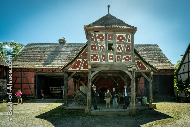 Big Alsatian house in the Living Museum of Alsace