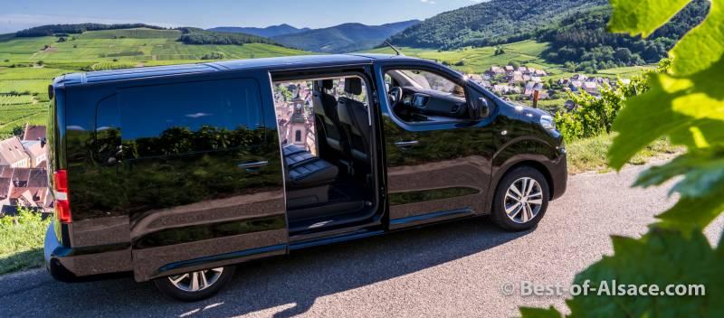 Private minivan tours in Alsace: our new minivan.