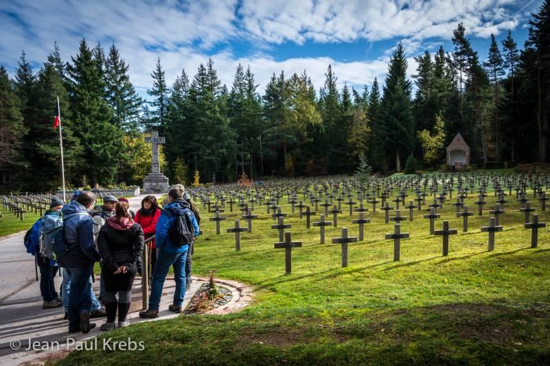 World War 1 Graveyard in Vosges Mountain