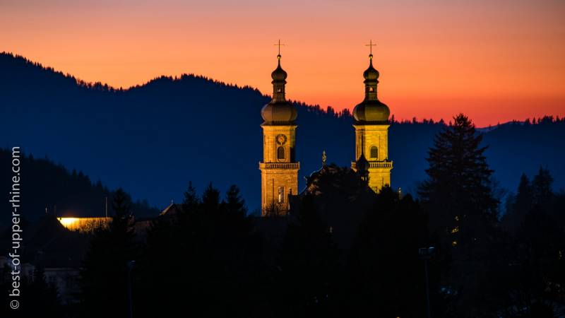 Sankt-Peter abbey in the Black-Forest mountains of Germany
