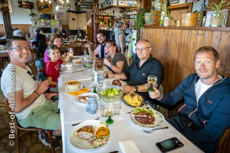Lunch at a traditional mountain farm inn in the mountain