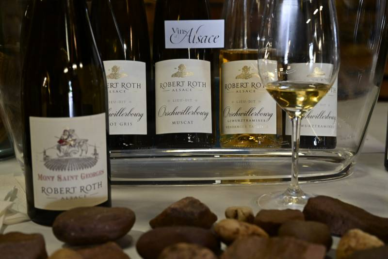 Robert Roth wine estate on the south of Alsace